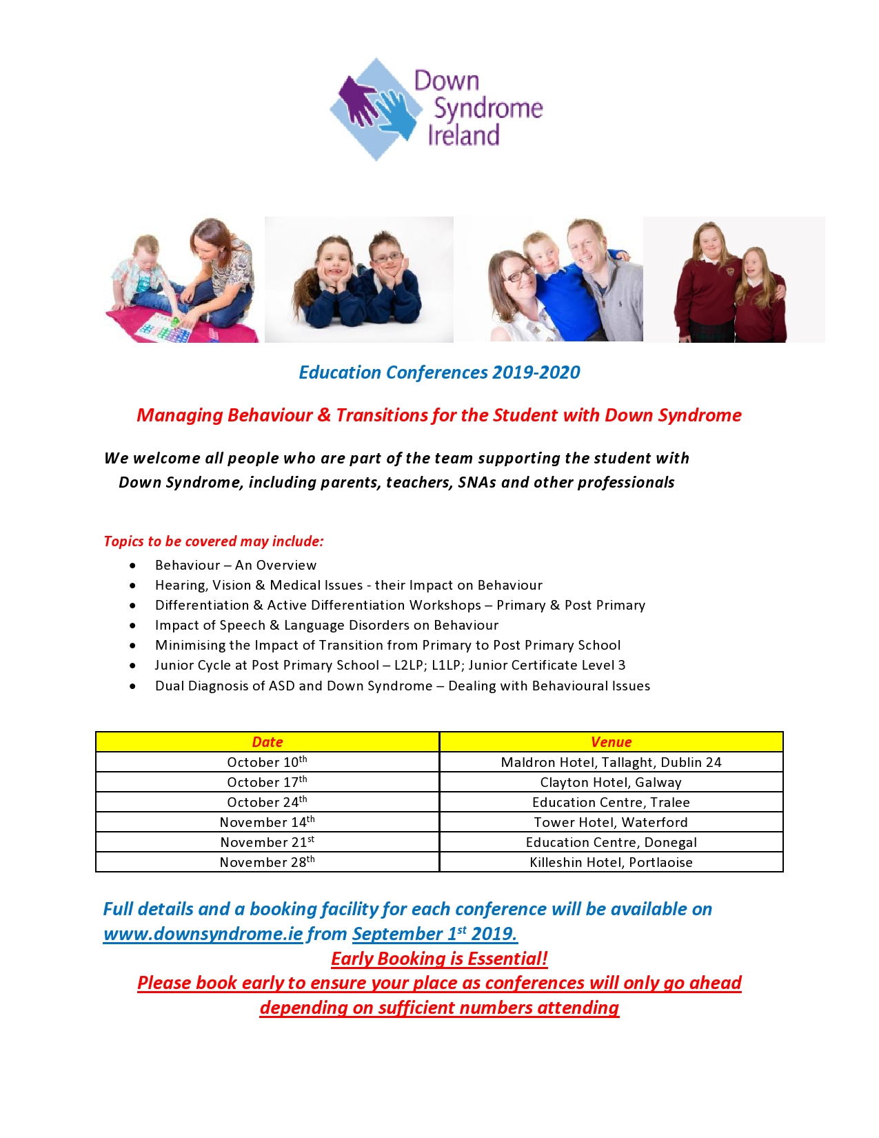 Education Conference 2019/2020 – Down Syndrome Ireland